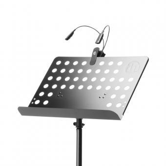 Adam Hall SMS 17 SET 1 Notenständer mit LED Notenpultleuchte