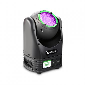 Cameo MOVO BEAM Z 100 - Beam Moving Head mit LED-Ring, Endlos-Drehung und Zoom
