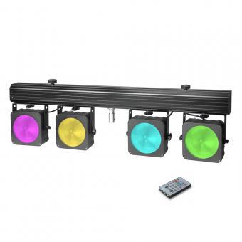 Cameo Multi PAR COB 1 Kompakte 4 x 30 W RGB COB LED Lichtanlage inkl. Transportcase