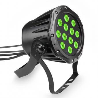 Cameo Outdoor PAR TRI 12 IP 65 12 x 3 W TRI Colour LED RGB Outdoor PAR Scheinwerfer in schwarzem Gehäuse