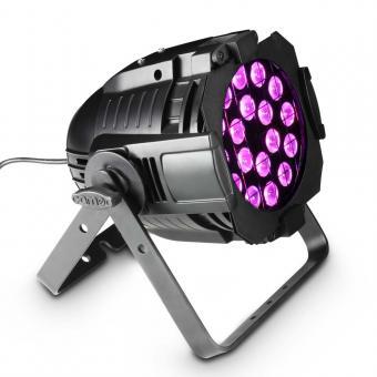 Cameo Studio PAR 64 CAN RGBA Q 8W 18 x 8W QUAD Colour LED RGBA PAR Scheinwerfer in schwarzem Gehäuse