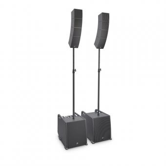 LD Systems CURV 500 PS Portables Array System Power Set inklusive Distanzstange und Lautsprecherkabel