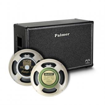 "Palmer MI CAB 212 V30 GBK OB Gitarrenbox 2 x 12"" mit Celestion Vintage 30 und Greenback 8/16 Ohm Open Back"