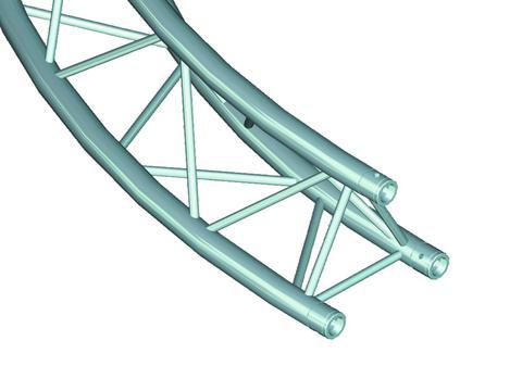 ALUTRUSS DECOLOCK DQ-3 Element f.Kreis d=3m  90°