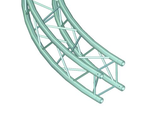 ALUTRUSS DECOLOCK DQ-4 Element für Kreis d=2m 90°