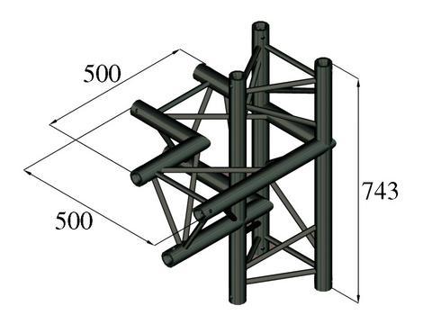 ALUTRUSS TRILOCK S-PAC-44 4-Weg-Stück  links