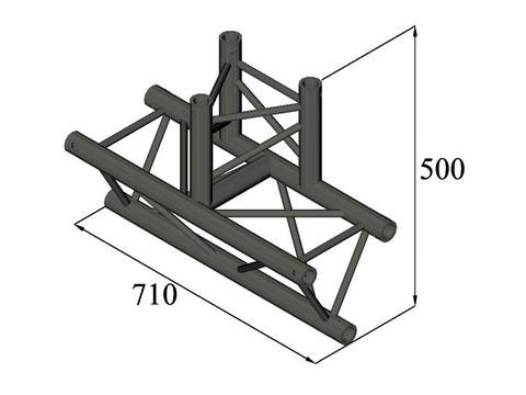 ALUTRUSS TRILOCK S-PAT-38 3-Weg-T-Stück