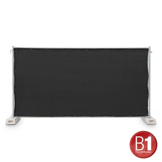 Adam Hall 0159 X BAU 1 - Bauzaunblende Gaze Typ 800 1,76x3,41m geöst, schwarz