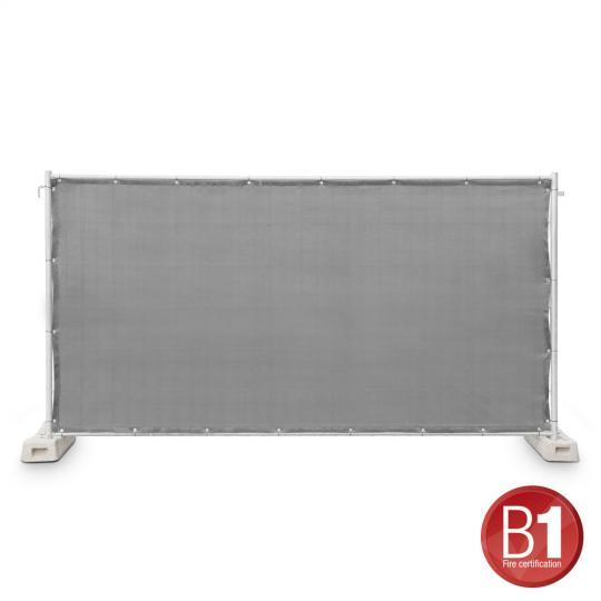 Adam Hall 0159 X BAU 2 - Bauzaunblende Gaze Typ 800 1,76x3,41m geöst, grau
