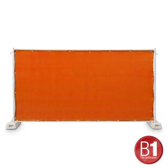 Adam Hall 0159 X BAU 8 - Bauzaunblende Gaze Typ 800 1,76x3,41m geöst, orange