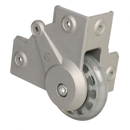 Adam Hall 37451 S - Einbau Eckrolle mit weichem Rad 75 mm