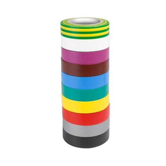Adam Hall 580813 RNB 10 - Isolierband 0,13 x 15 mm x 10 m Set aus 10 Farben