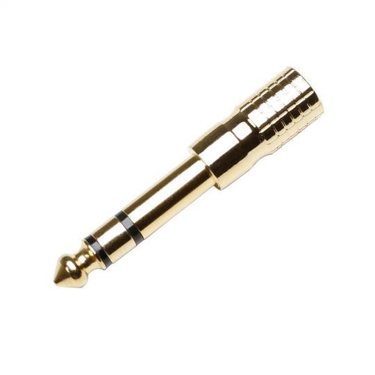 Adam Hall 7543 G - Adapter 3,5 mm stereo Klinke female auf 6,3 mm stereo Klinke male vergoldet