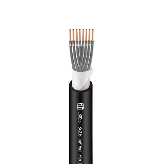Adam Hall K4 LS 825 - Lautsprecherkabel 8 x 2,5 mm² schwarz