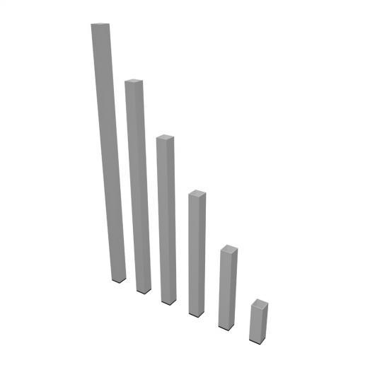 Bütec 4050160 - 4er Set Steckbeine 50 x 50 mm 160 cm