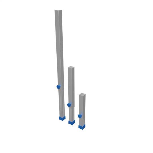 Bütec 4550060 - 4er Set Verstellbare Teleskop Beine 60 - 100 cm (55 x 55 mm)