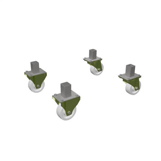 Bütec 4700041 - Transportrollensatz für Steckfußpodest