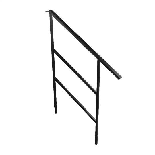 Bütec 5000 Z 005 - Geländer für Treppenelemente, Stahl für 2 stufige Treppe