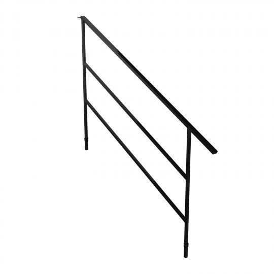 Bütec 5000 Z 015 - Geländer für Treppenelemente, Stahl für 5 stufige Treppe