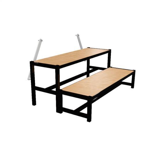 Bütec 500211003020 - Treppe, Stahl, 2-stufig für Podeste bis zu 60 cm Höhe