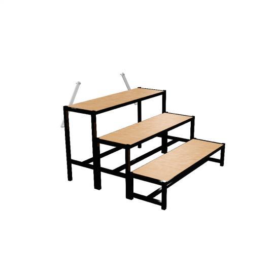 Bütec 500311003020 - Treppe, Stahl, 3-stufig für Podeste bis 80 cm Höhe