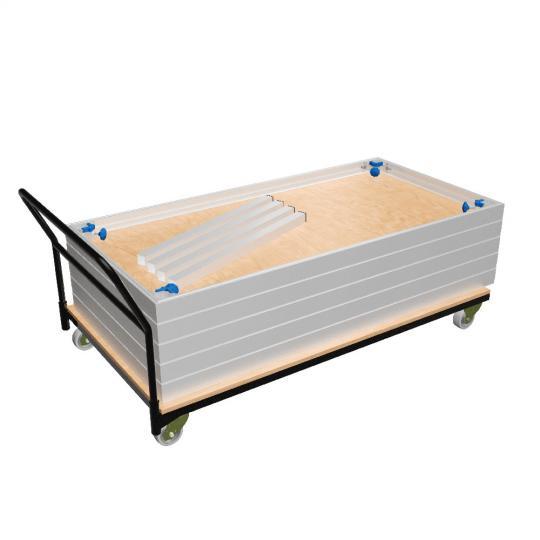 Bütec 5400 - Stapel- und Transportwagen für Normalböden 2 x 1 m