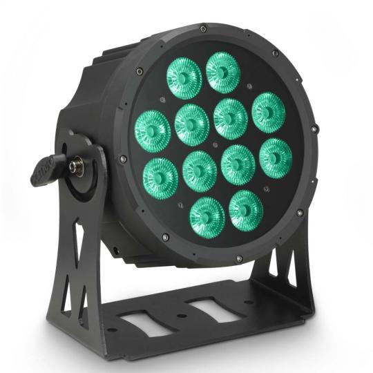 Cameo FLAT PRO 12 - 12 x 10 W FLAT LED RGBWA PAR Scheinwerfer in schwarzem Gehäuse