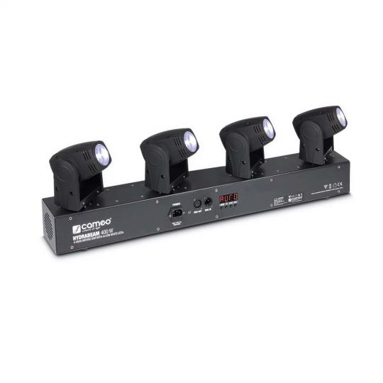 Cameo HYDRABEAM 400 W - Lichtanlage mit 4 ultraschnellen 10 W Lumi-Engin-LED Moving Heads