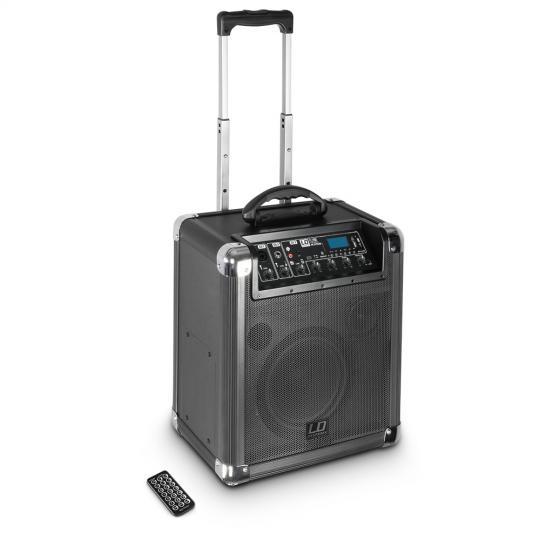 LD Systems Roadjack 10 - Batteriegespeister Bluetooth-Lautsprecher mit Mixer