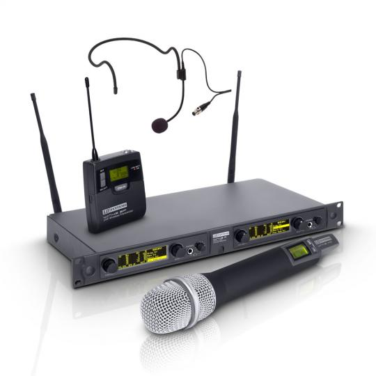 LD Systems WIN 42 HBH2 Funkmikrofon System mit Handmikrofon dynamisch und Headset