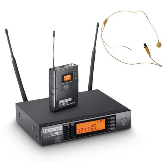 LD Systems WS 1000 G2 BPHH Funkmikrofon System mit Belt Pack und Headset beigefarben