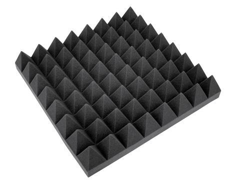 OMNITRONIC Akustikschaumstoff Pyramide 100mm,50x50cm