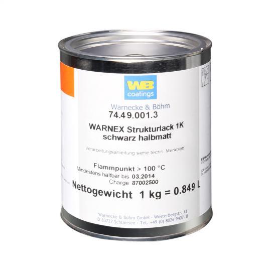 Warnex 0131 - Strukturlack schwarz 1 kg Warnex