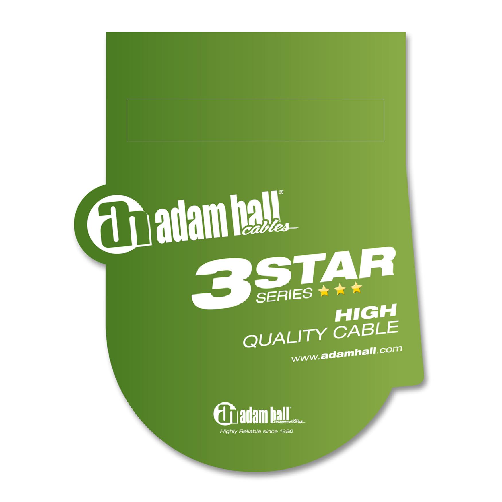 Adapter Splitt Audio Y Kabel 1 m Lang 3,5 auf 2x6,3 Klinkenstecker Adam Hall