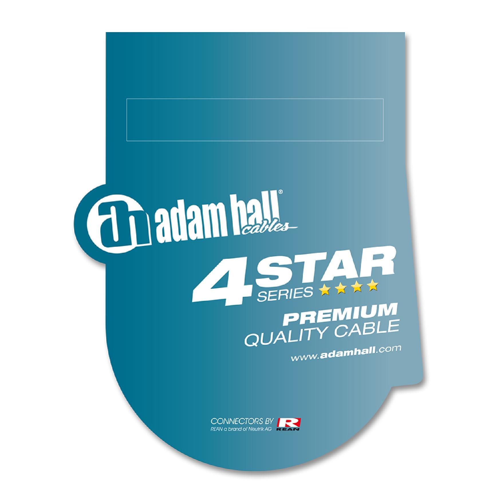 Instrumentenkabel REAN 6,3 mm Winkelklinke mono auf 6 m Adam Hall Cables K4 IRR