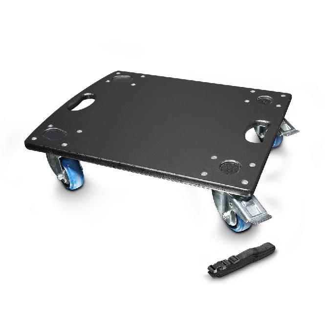 560kg Rollbrett GR-1 mit 2 Bockrollen 2 Lenkrollen Blue Wheels Wheelboard Tragf